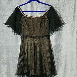 BCBG MAXAZRIA polka dot tulle dress 0